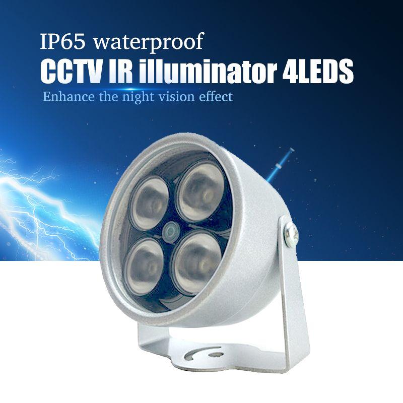 Illuminateur lumière 4 grand LED CCTV IR infrarouge Vision nocturne pour Surveillance caméra système de sécurité en gros livraison gratuite