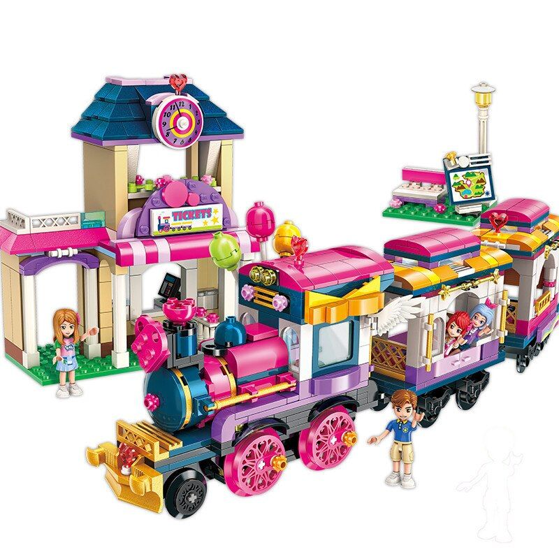 ENLIGHTEN City Girls Princess Move Maersk Train Car Building Blocks Sets Bricks Model Kids Classic Compatible Legoings Friends