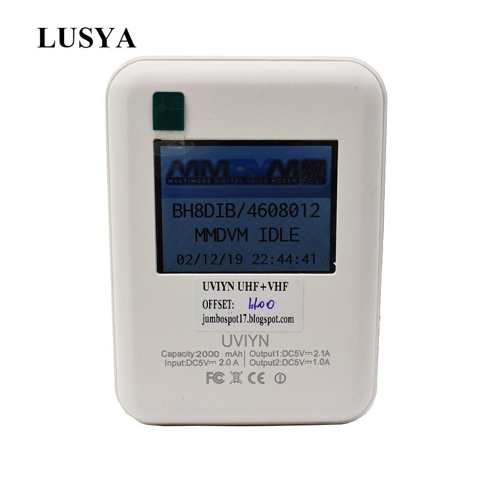 Lusya LCD Display DXIYN UV Wifi Repeater Function Digital Hotsopt MMDVM Support DMR + P25 + YSF QSO inside with battery
