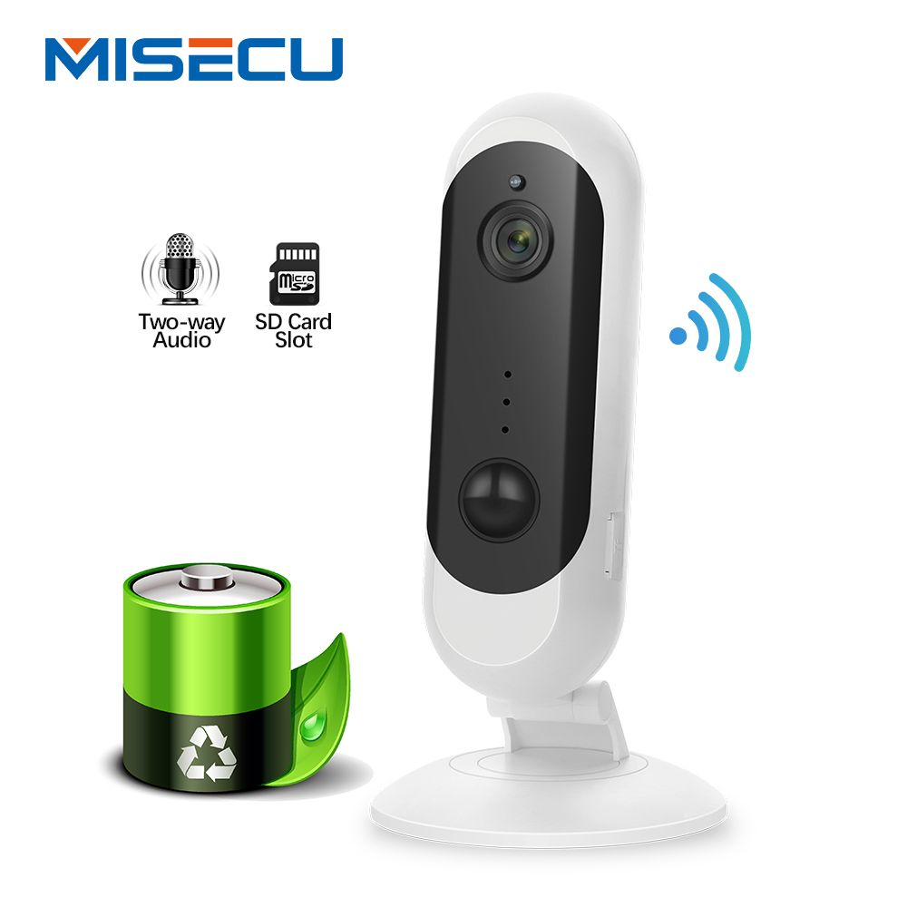 MISECU 1080P HD Batterie IP Kamera WiFi Wireless Home Sicherheit Nachtsicht Wiederaufladbare Alarm Audio Low Power Mini IP kamera