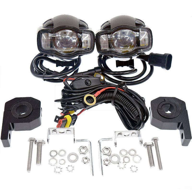 20 W 2000LM CE Motorrad Wasserdicht Nebel Lampe Montage Moto DC 9-85 V LED Kopf Licht Scheinwerfer Mit telefon USB Ladegerät Für Auto ATV