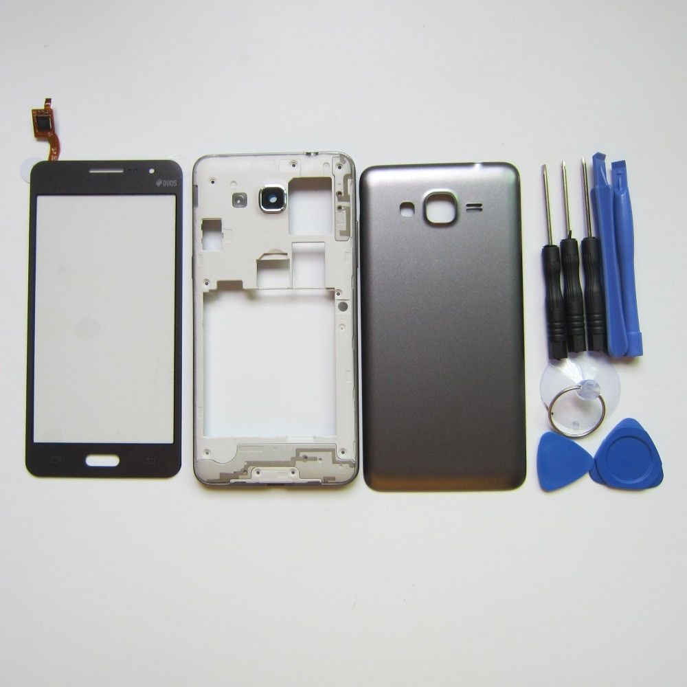 G530 Full Housing Cover For Samsung Galaxy Grand Prime G530 G530H Middle Frame Bezel + Battery Cover + Touch screen + tools
