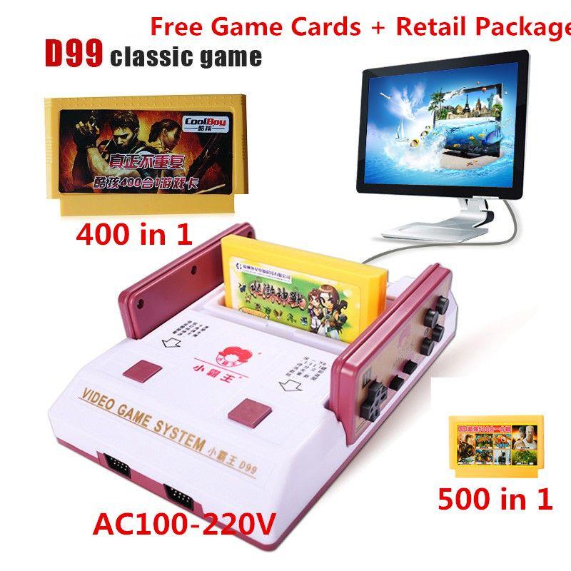 2017 Nouveau Subor D99 Jeu Vidéo Console Classique Famille TV vidéo jeux consoles lecteur avec 400 IN1 + 500 IN1 jeux cartes pour choisir