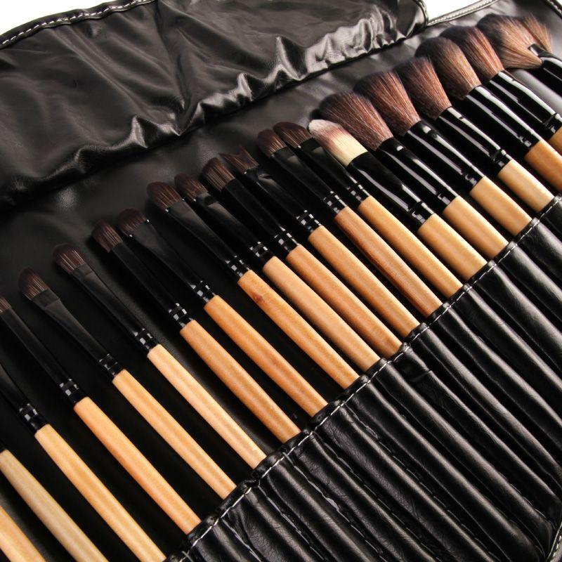 Destockage!!! 32 Pcs Imprimer Logo Brosses de Maquillage Professionnel Cosmétiques Make Up Brush Set La Meilleure Qualité!