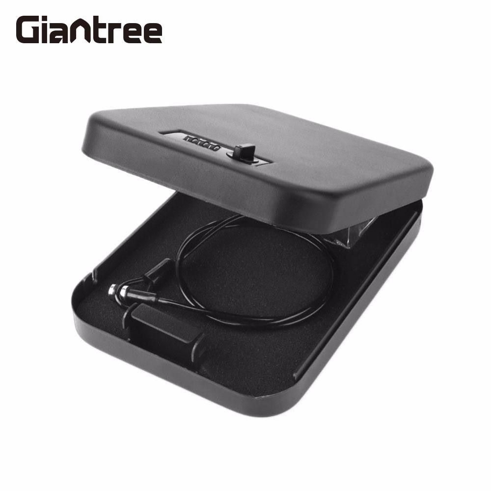 giantree Vehicle-Mounted On-Board Safe Box Money Cash Portable Password Lock Secret Metal