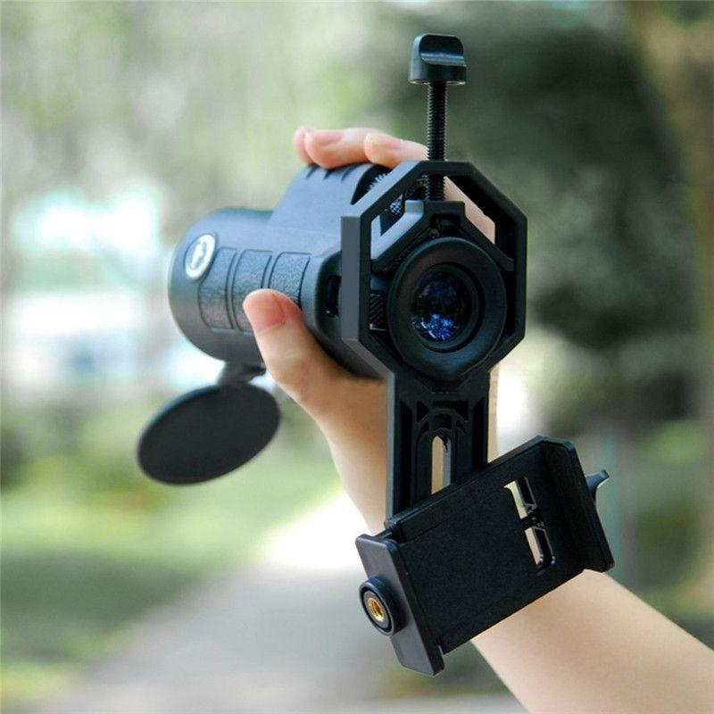 Téléphone lentille Kit 40*60 Zoom Télescope Lentilles Stand Adaptateur Trépied titulaire pour iphone 6s plus samsung galaxy s8 smartphone lentille ensembles