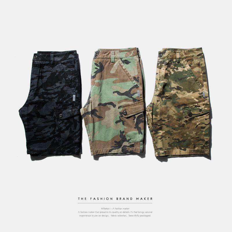 L'INFLATION | 2016 Marque Mens Militaire Cargo Shorts Nouvelle Armée Camouflage Shorts Hommes Coton Lâche Travail Casual Pantalon Court Plus taille