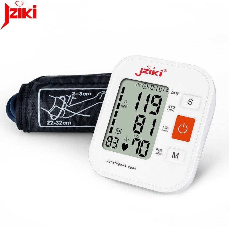 JZIKI Digital Upper Arm Blood Pressure Monitors tonometer Portable health care bp Blood Pressure Monitor meters sphygmomanometer