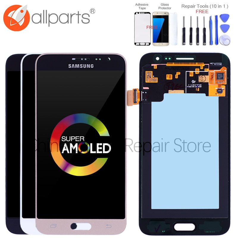 Best AMOLED 5.0 LCD for SAMSUNG J3 2016 Display J320 J320F LCD Touch Screen Digitizer for SAMSUNG Galaxy J3 2016 Display J320FN
