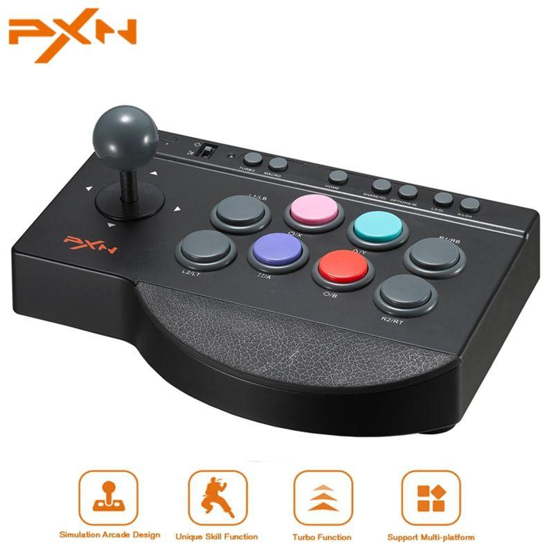 PXN 00082 Arcade Game Joystick for PS4 for Xbox One USB Control Arcade Stick Rocker for PC Zero Delay Joostick Arcade
