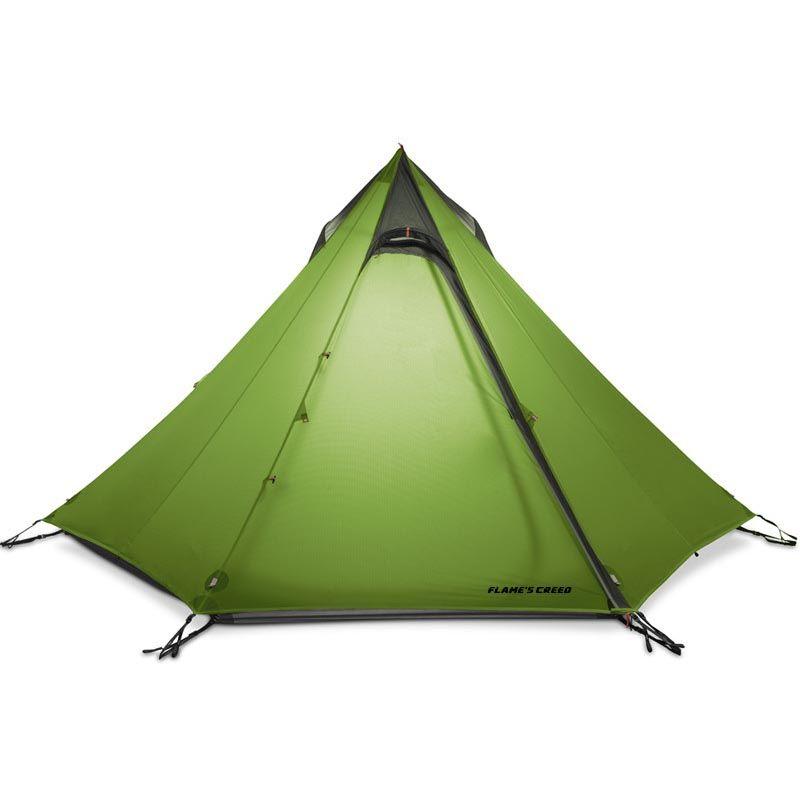 FLAME'S CREED 2-3Person Pyramide Camping Zelt 15D Silnylon Beschichtung 3-Saison Naht Versiegelt Kein Pol Ultraleicht Wandern