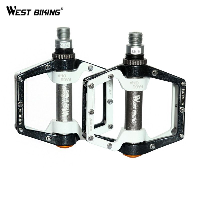 WEST BIKING Cycling Pedals <font><b>Fixed</b></font> Gear MTB BMX Bicycle Pedals 9/16 Foot Pegs Outdoor Sports DHCrank MTB Road Bike Cycling Pedals