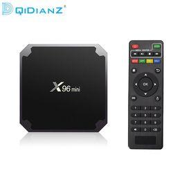 NOUVEAU!!! DQiDianZ X96mini Android 7.1X96 mini Smart TV BOX S905W Quad Core soutien 2.4G sans fil WIFI Set Top Box + IR CÂBLE