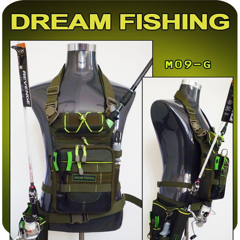 Pêche de rêve sac de taille multifonction 17x6x22 cm sac de pêche + boîte de leurre 1200d Nylon sac de matériel de pêche de grande capacité pour l'extérieur