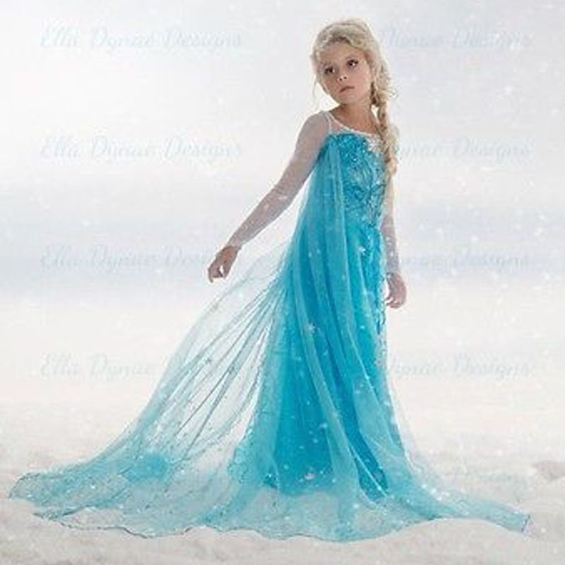 2018New Summer dress anna elsa disfraz princess sofia dress infantil fever elza costume vestido rapunzel jurk disfraces Clothing