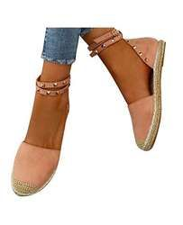 Rivers Perlé Femmes De Mode de Coton À La Main Tissu Espadrilles Glissent sur Casual Toile Mocassins Dames Chaussures Plates Taille 35-43