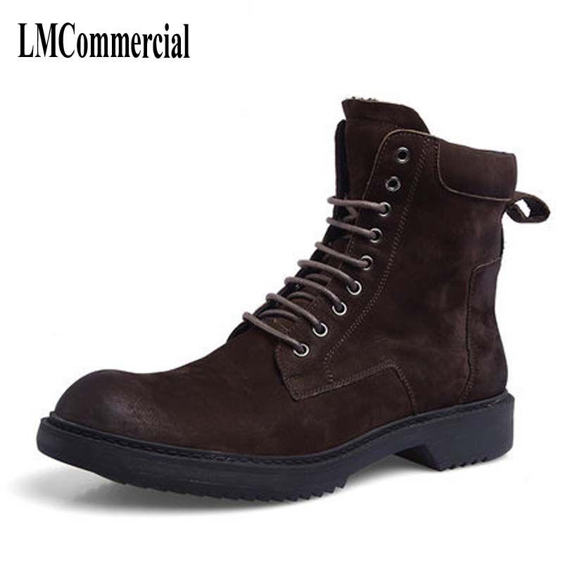 Осенние ботинки Martin обувь для мужской кожи Ретро корейский полусапожки