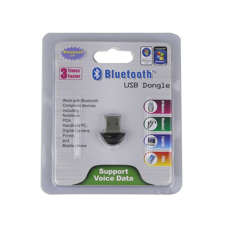 Nueva llegada! Bluetooth 2.0 USB 2.0 Mini Bluetooth V2.0 EDR Dongle Adaptador Inalámbrico Receptor Para PC Portátil Auricular Paspberry Pi