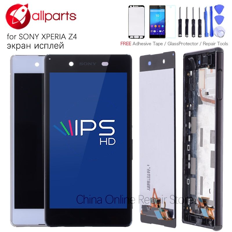 Original IPS For SONY Xperia Z4 LCD Display Touch Screen For SONY Xperia Z4 Display Screen E6533 E6553 LCD Replacement
