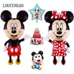 114 cm Big Mickey Mouse Minnie globo Baby Shower Mini Mickey globo cumpleaños fiesta decoraciones niños regalo