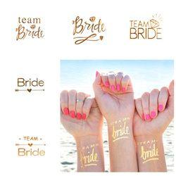 1 unids oro flash equipo novia flamenco/piña tatuaje temporal boda decoración fuentes del Partido de gallina Photo props