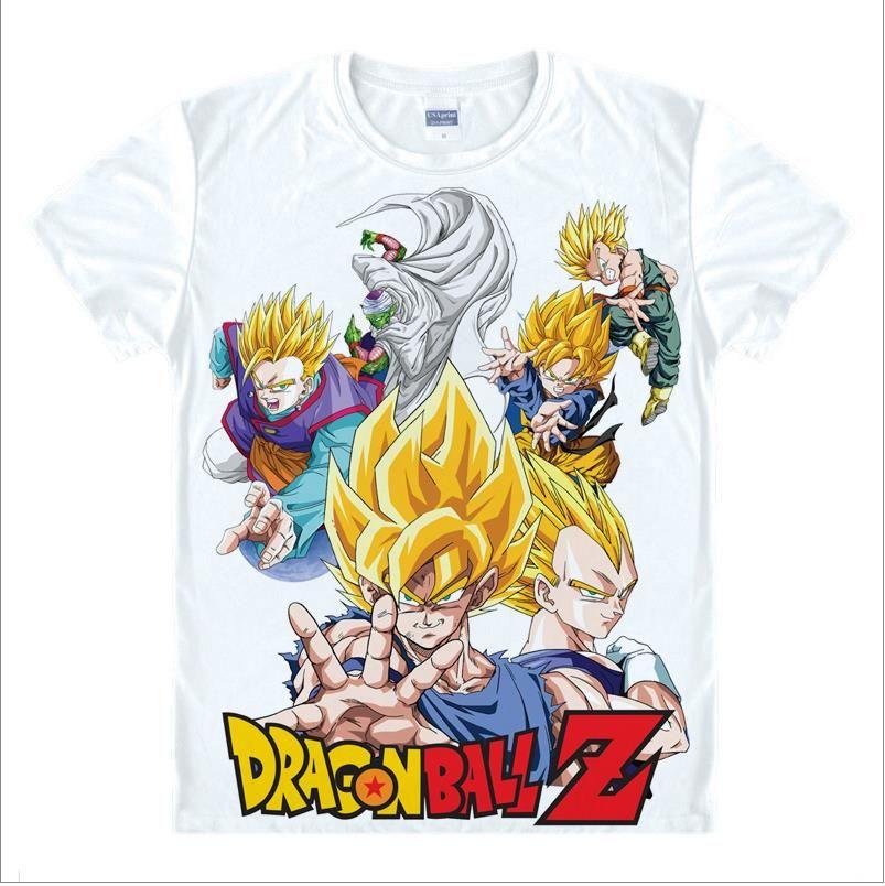 Dragon ball z t-shirt pour hommes Super Saiyan goku Sun Wukong Piccolo Master Roshi t-shirt classique Anime végéta unisexe t-shirt hauts