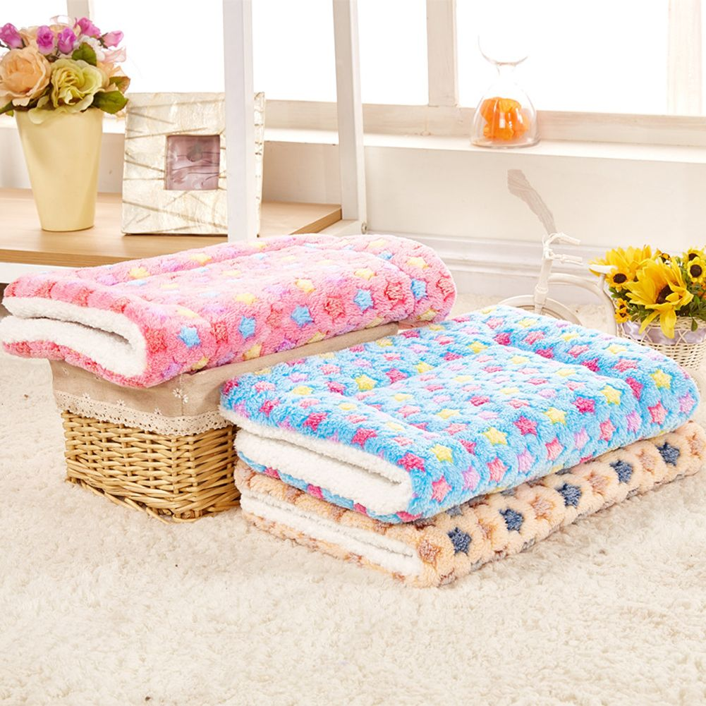 Зима кровать собаки складная собак Одеяло сладкий сон кровать Cat Одеяло коралловый кашемир Touch мягкий теплый собака Коврики размеры S, M, L