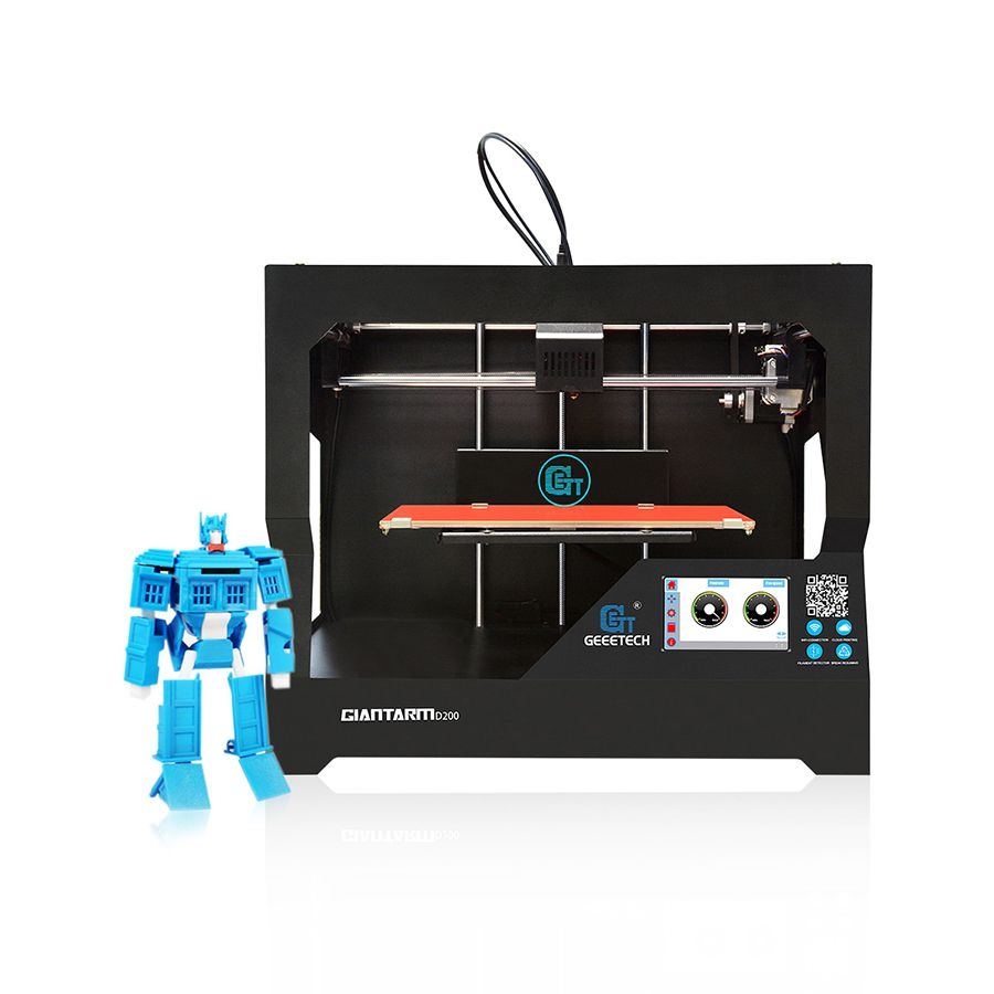 New Geeetech 3D Printer GiantArm D200 Wi-Fi Remote Control Resurrection System Filament Monitor High Accuracy Free Shipping
