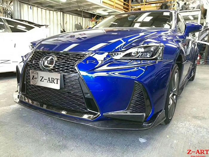 Z-ART carbon fiber aerokit for Lexus IS 2017 carbon fiber front lip +side skirts +rear diffuser +rear splitter +rear spoiler