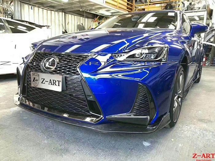 Z-ART carbon fiber aerokit for Lexus IS 2017 carbon fiber front lip +side skirts +rear diffuser +rear splitter +rear spoiler