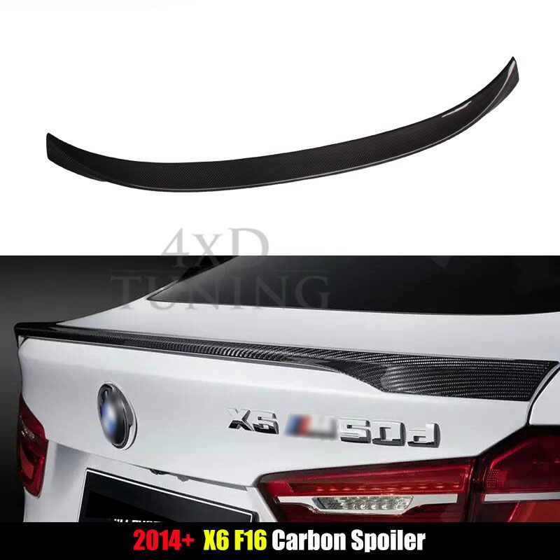 For BMW M Performance Style X6 F16 Spoiler X Series F16 Carbon Fiber Rear Spoiler Trunk Wing 2014 2015 2016 2017