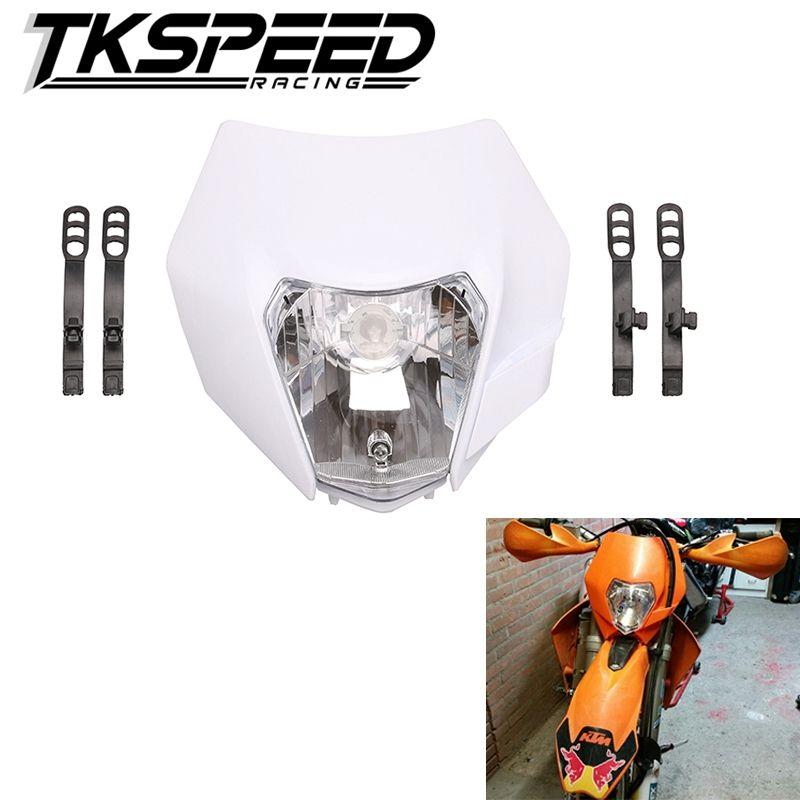 Free shipping 2015 16 Motorcycle Dirt Bike Motocross Supermoto Universal New Headlight For KTM SX EXC XCF SXF SMR Headlamp