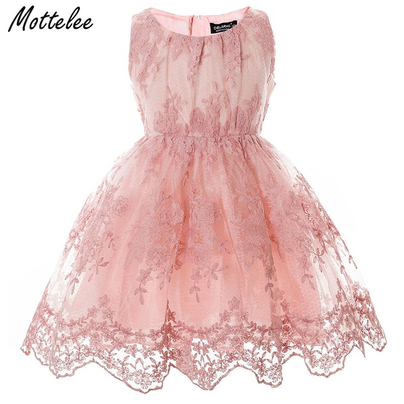 Filles dentelle robe élégant enfants robe de fête de mariage Pageant bébé robes enfants fleur robe princesse anniversaire robe fille 2-7 ans