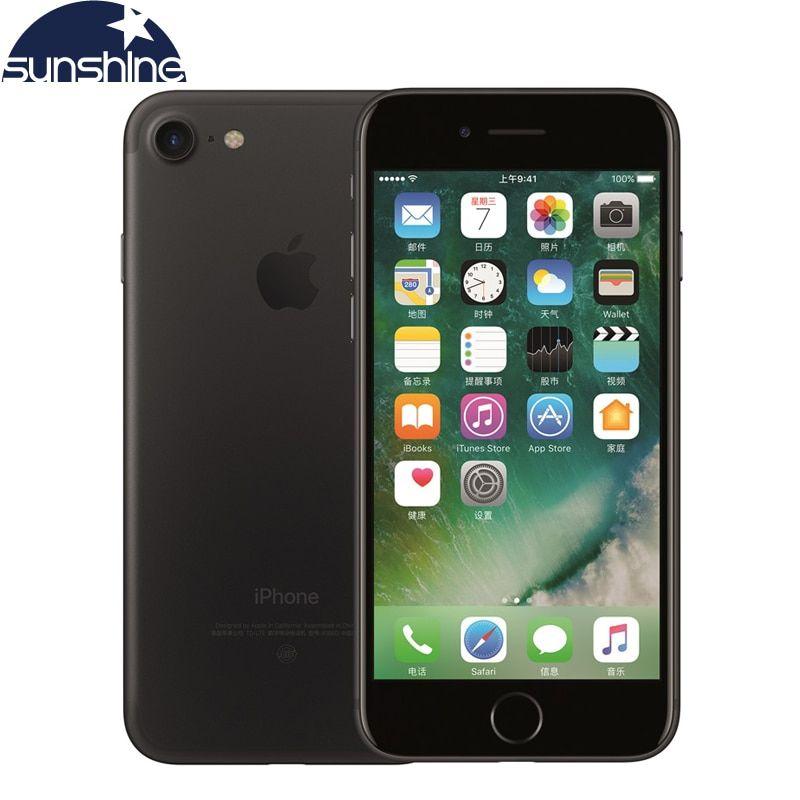 Téléphone portable Original débloqué Apple iPhone 7 4G LTE 2G RAM 256 GB/128 GB/32 GB ROM Quad Core 4.7 ''12. 0 MP téléphone avec caméra à empreinte digitale