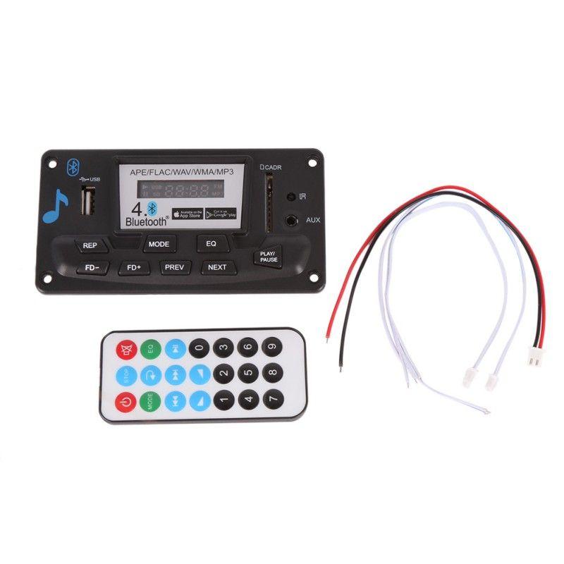 12 v Bluetooth MP3 Decodierung Bord Modul mit LED DIY USB/SD/MMC APE FLAC WAV DAE Decoder rekord MP3 Player AUX FM Ordner Schalter