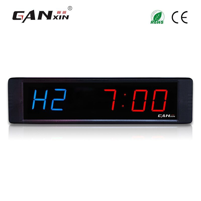 [Ganxin]1'' Led Crossfit Timer With Remote Control Interval GYM Timer
