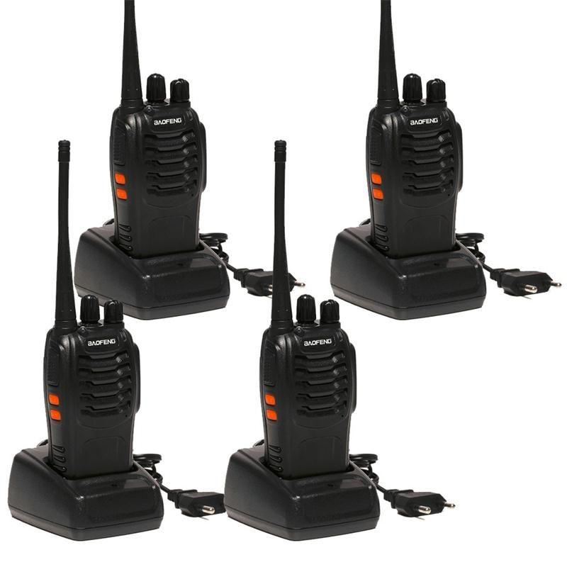 4pcs Baofeng BF-888S Walkie Talkie 5W Handheld bf 888s UHF 5W 400-470MHz 16CH Two Way Portable Scan Monitor Ham CB Radio