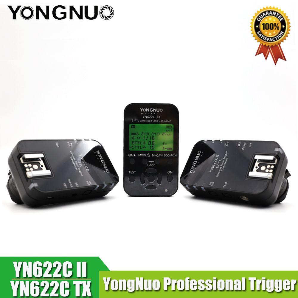 Yongnuo YN-622C II Trigger YN622C-TX LCD Controller ETTL Wireless Flash Trigger Transceivers for Canon Yongnuo Flash