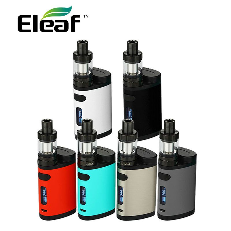Original 200W Eleaf Pico Dual Vape Kit with 2ml MELO 3 Mini Tank 2ml & ISTICK Pico Dual Mod 200w Electronic Cigarette Kit