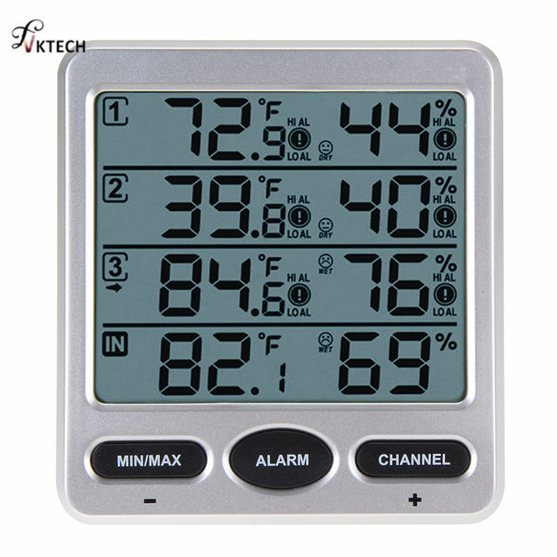 WS-10 Ambient Weather Station Wireless LCD Digital Thermometer Hygrometer Indoor/Outdoor 8 Channel Thermo Hygrometer Tester