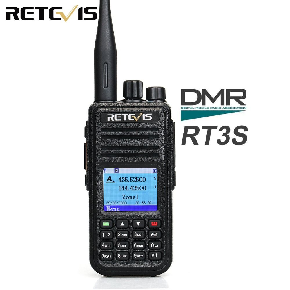 Retevis RT3S Dual Band DMR Radio Digital Walkie Talkie VHF UHF GPS DCDM TDMA Ham Radio Amateur Hf Transceiver