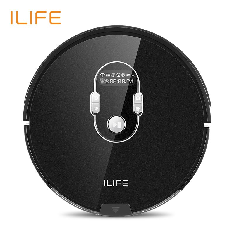 ILIFE A7 Robot Cleaner Vacuum Smart APP Remote Control for Hard Floor and Thin Carpet Automatic Recharge Slim Body