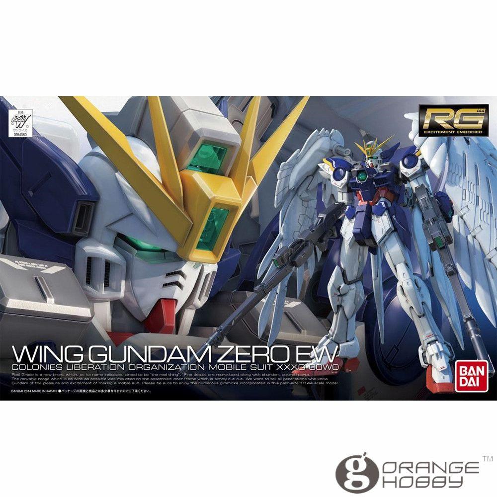 OHS Bandai RG 17 1/144 XXXG-00W0 Wing Gundam Zero EW Mobile Suit Assembly Model Kits oh