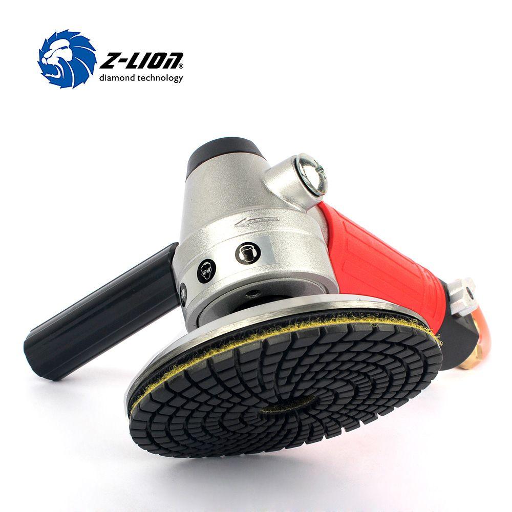 Z-LION 1 Piece Air Wet Polisher M14 Thread Pneumatic Air Tool Air Sander Pneumatic Polisher With 1 Piece Aluminium Backer Pad 4