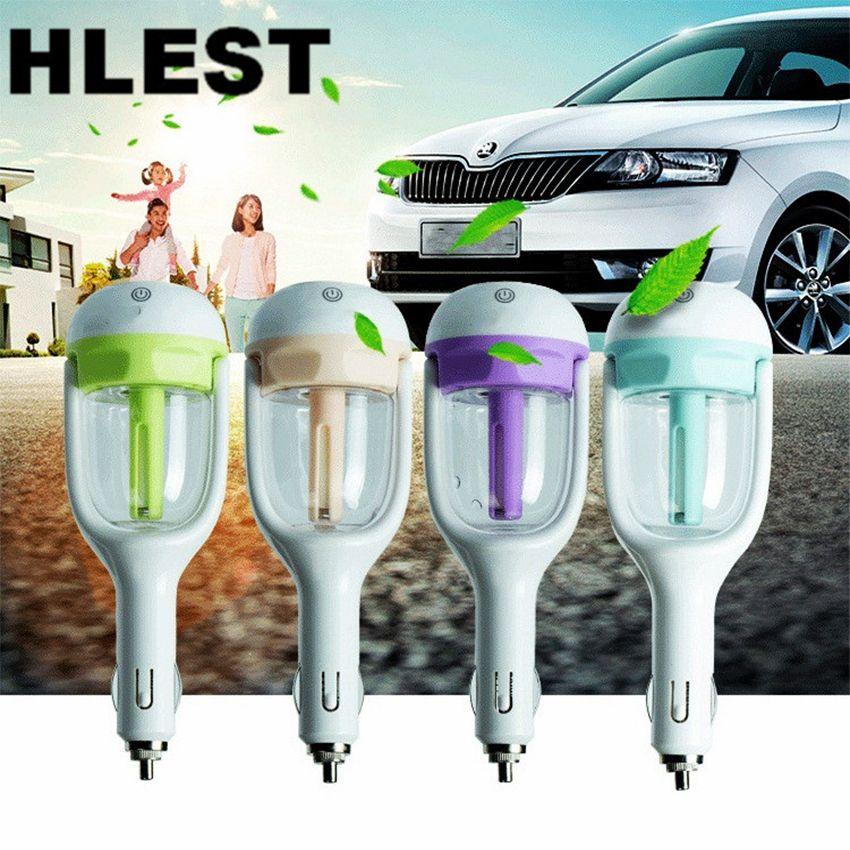 DC 12V HLEST Car Humidifier Air Purifier Freshener Sprayer 50ML Essential Oil Diffuser Aromatherapy  Auto Mist Maker Fogger
