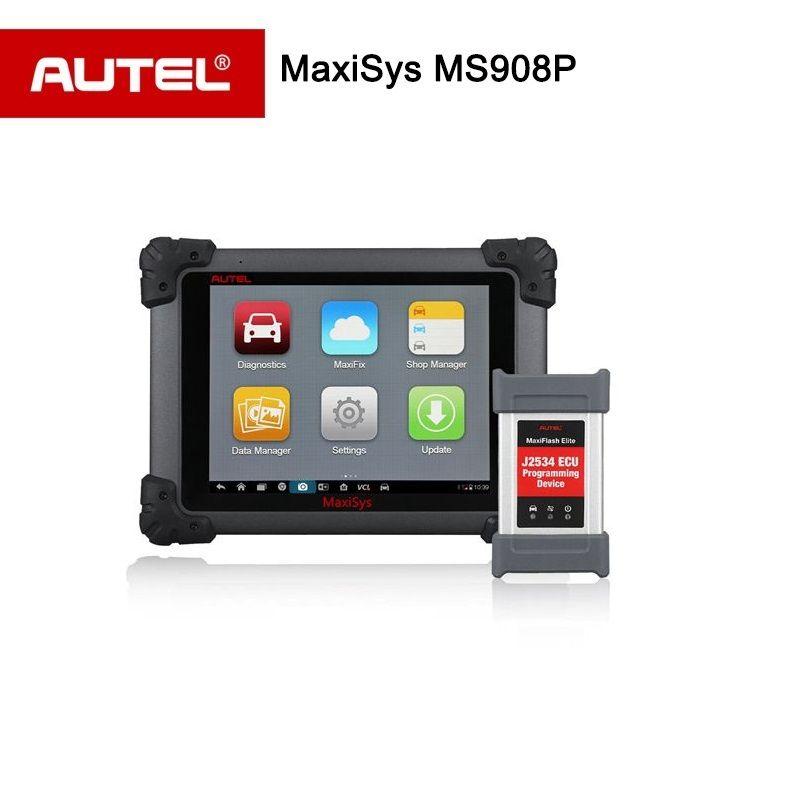 Autel MS908 MaxiSYS Pro MS908P Programación ECU Escáner con J2534 P OBDII/2 Herramienta de Diagnóstico de wifi Bluetooth