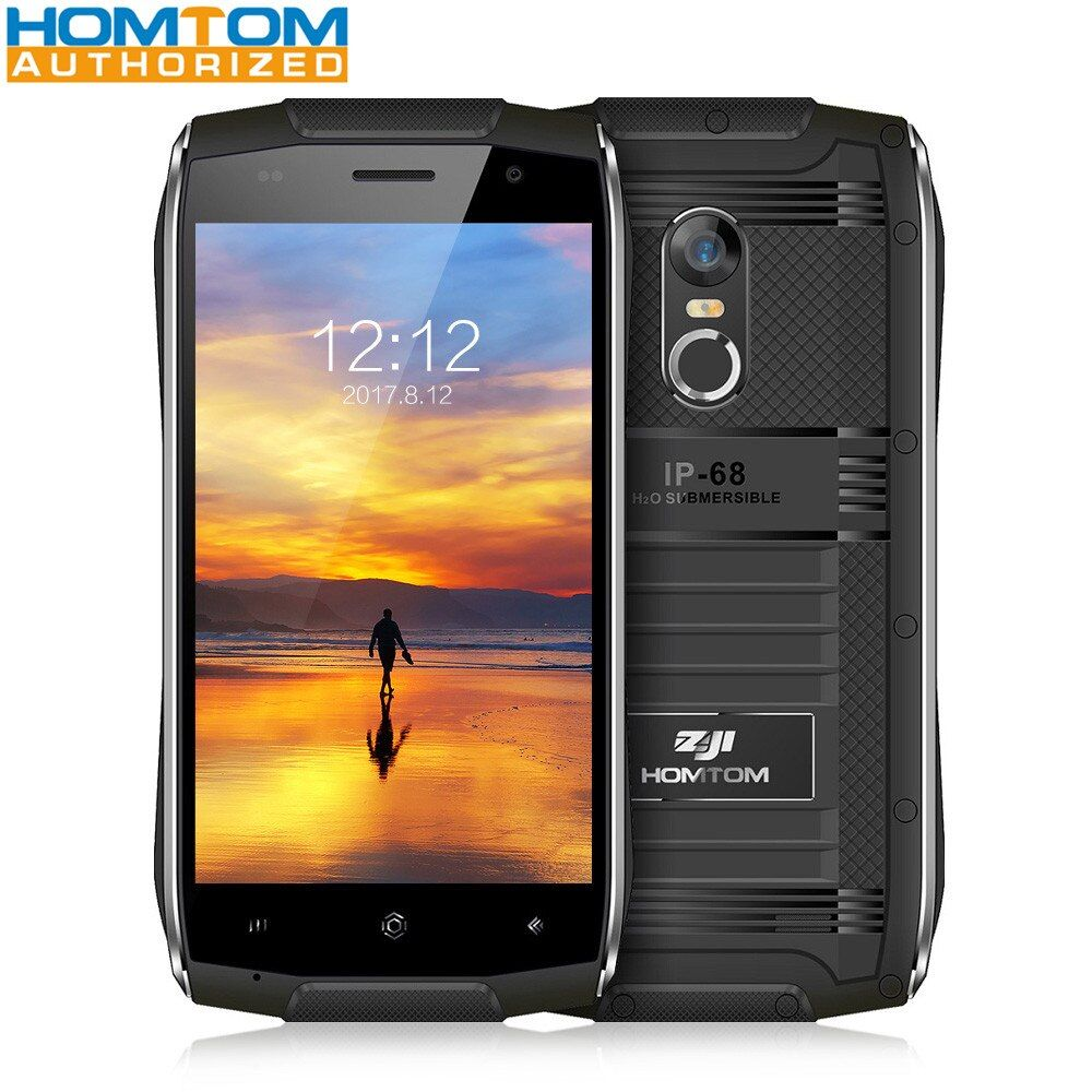 HOMTOM ZOJI Z6 ip68 3G smartphone Waterproof Shockproof phone 4.7 inch 1GB RAM 8GB ROM Fingerprint Scanner Metal Frame Phone