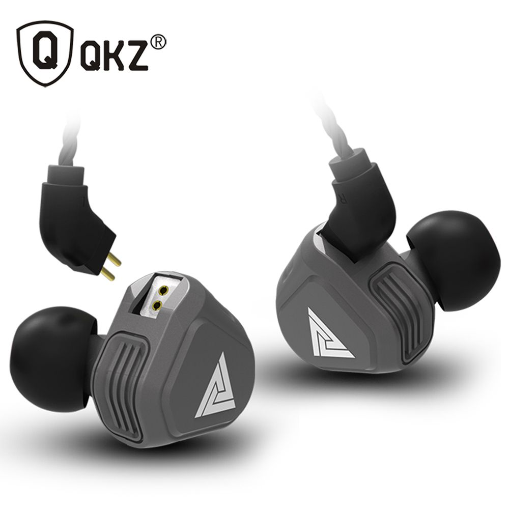 New QKZ VK2 2DD In Ear Earphone HIFI DJ Monito <font><b>Running</b></font> Sport Earphone Hybrid Headset Bass Earbuds With Mic Replaced Cable