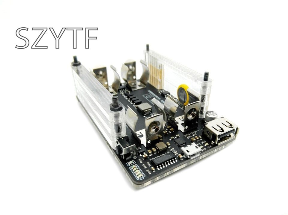 Raspberry pi 2 pi 3 B + UPS power extension board with RTC, measurement, 5V output, serial port function 5V 3A+USB data cable