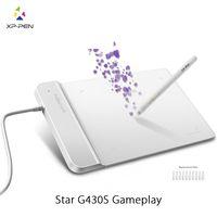 Графический Планшет для рисования XP Pen G430S 4x3 дюймовый Ультратонкий Планшет для ОГУ с без Батареи стилус дизайн! геймплей